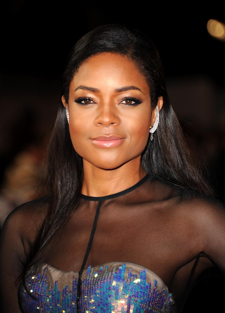 "Actress Naomie Harris poses at the world premiere of ""Skyfall"" on Tuesday, Oct. 23, 2012 in London.  (Photo by Stewart Wilson/Invision/AP)"