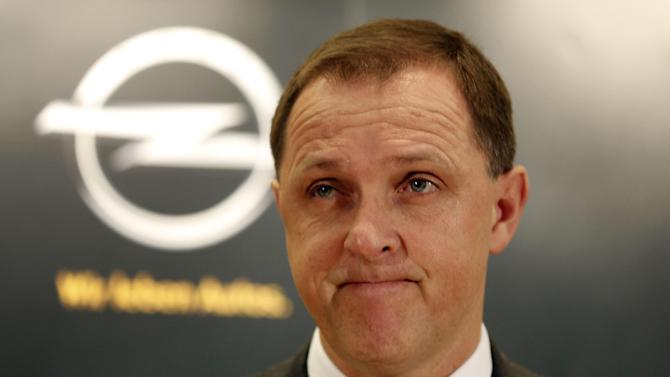 Opel Germany CEO Thomas Sedran addresses the media in Bochum, Germany, Monday, Dec. 10, 2012. Opel plans to stop car production in 2016 in Bochum. But Opel says the company's warehouse in Bochum will continue to employ people after 2016 and may be expanded. The company also is negotiating with employee representatives to produce components at the site. (AP Photo/Frank Augstein)