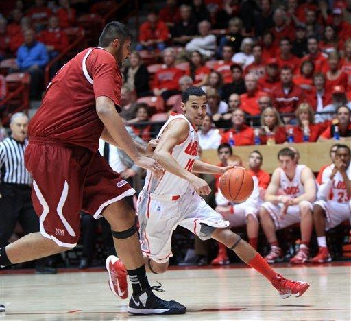 No. 17 New Mexico beats New Mexico State 73-58