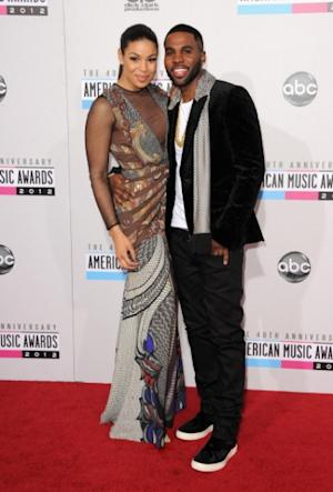 Jordin Sparks and Jason Derulo look happy and cute together as they walk the carpet of 40th American Music Award at the Nokia Theatre on November 18, 2012 in Los Angeles -- Getty Images