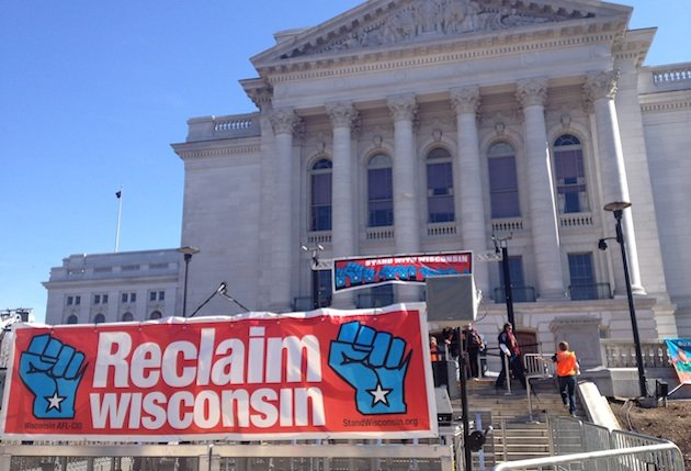 High stakes for Big Labor in Wisconsin recall vote