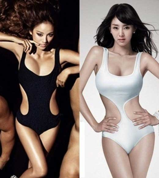 Lee Hyori and G.Na Both Wore the Same Swimsuit in the Past
