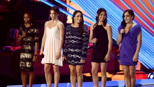 USA's Fierce Five Hit The 2012 MTV Video Music Awards -- Getty Images