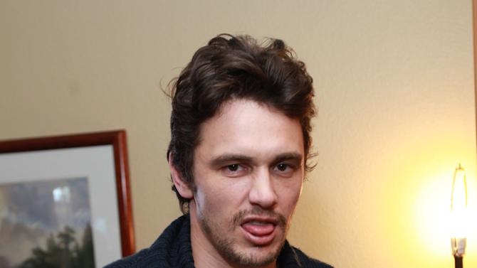 Actor James Franco poses at the Urban Decay make-up station at the Fender Music lodge during the Sundance Film Festival on Sunday, Jan. 20, 2013, in Park City, Utah. (Photo by Barry Brecheisen/Invision for Fender/AP Images)