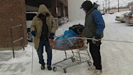 Volunteers say they are short on space and warm clothing as hundreds head to the Hope Mission to escape the latest cold snap.