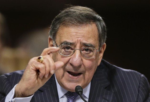 Outgoing Defense Secretary Leon Panetta testifies on Capitol Hill in Washington, Thursday, Feb. 7, 2013, before the Senate Armed Services Committee about the Pentagon&#39;s role in responding to the attack last year on the U.S. consulate in Benghazi, Libya, where the ambassador and three other Americans were killed. (AP Photo/J. Scott Applewhite)