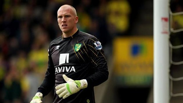 Norwich City's goalkeeper John Ruddy