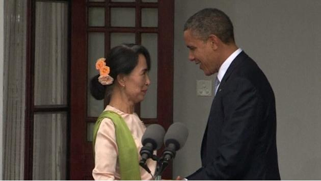Obama meets Suu Kyi on landmark Myanmar visit
