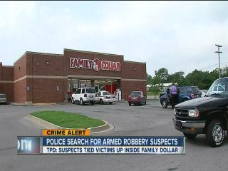 Police search for Family Dollar robbers