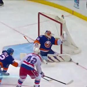 Halak uses his glove to deny Ward