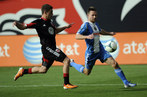 Union beat Fire 1-0 in  MLS on McInerney's goal