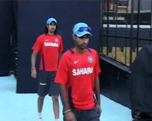 Team India in practice session