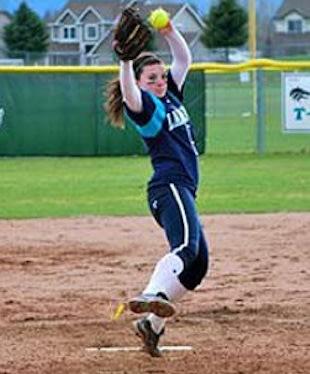 Lake City pitcher and slugger Casey Stangel — Lake City softball