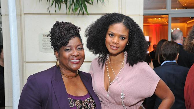 Actors Loretta Divine (L) and Kimberly Elise attend AARP The Magazine's 12th Annual Movies For Grownups Awards at The Peninsula Hotel on Tuesday, February 12, 2013 in Beverly Hills, California. ( Photo by Vince Bucci/Invision for AARP The Magazine/AP Images