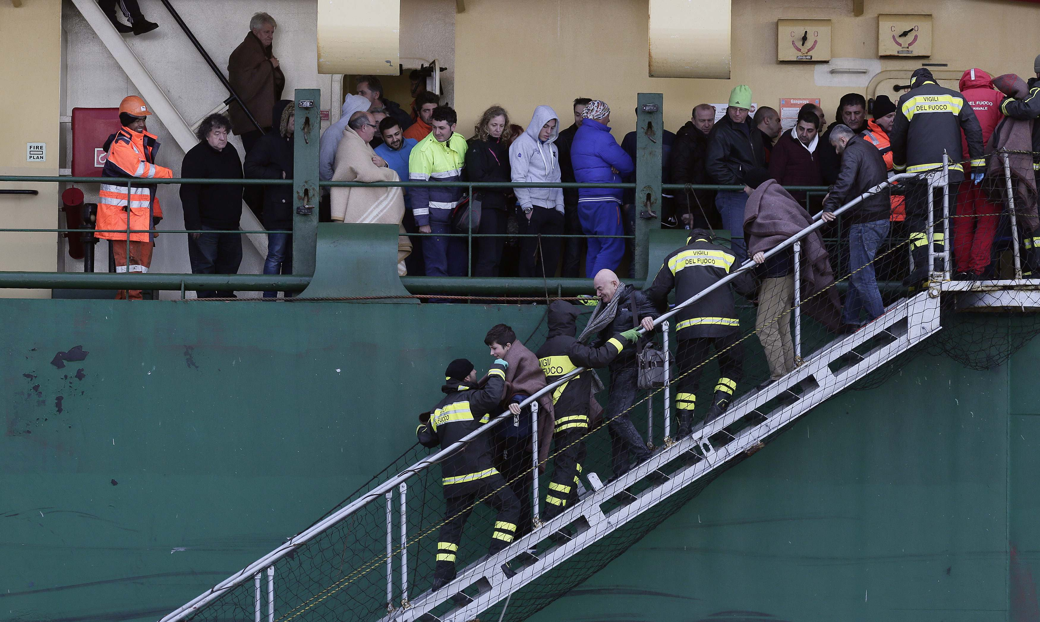 Five dead, 22 people still to be rescued from blazing ferry