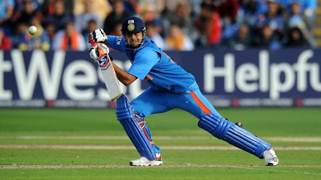 Suresh Raina finished unbeaten on 35 in India's 177 for eight