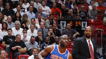 Without Melo, Knicks top Heat 112-92