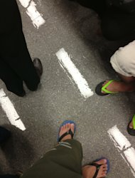 Train with wet floors shared by a reader. (Photo courtesy of Edmund Chia)