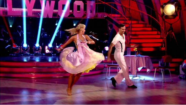 Michael Vaughan performs with dance partner Natalie on 'Strictly Come Dancing' Shown on BBC1 HD