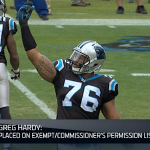 NFL NOW: Greg Hardy to be placed on Exempt List