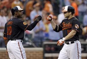 Orioles hit 3 HRs in 8-5 win over Blue Jays