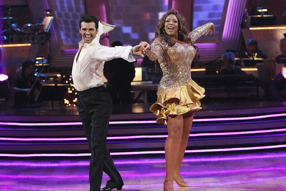 "Wendy Williams and Tony Dovolani perform the Cha-Cha-Cha on ""Dancing with the Stars."""