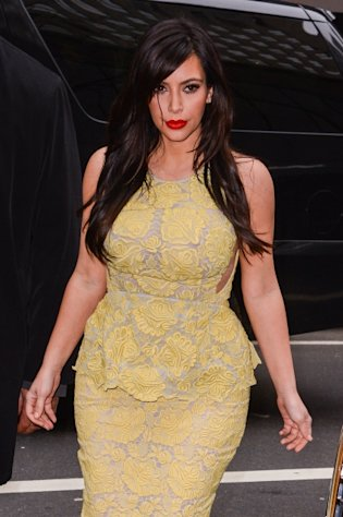 Kim Kardashian enters the 'Today Show' taping at the NBC Rockefeller Center Studios on January 15, 2013 in New York City -- Getty Premium