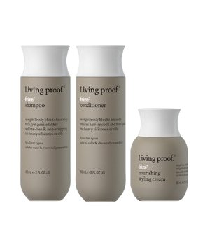 Living Proof&#x002019;s three-piece No Frizz Discovery Set 