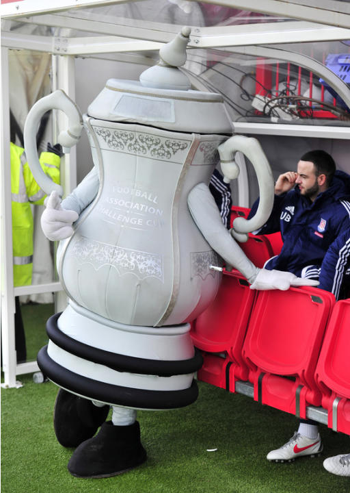 The FA Cup Mascot Stands   AFP/Getty Images