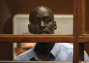 Actor Michael Jace appears at an arraignment hearing for a murder charge in Los Angeles Superior Court in Los Angeles