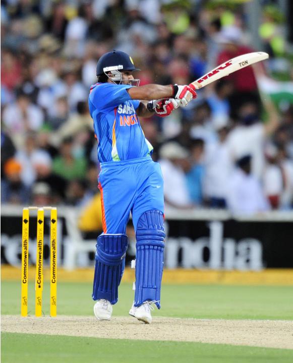 India's Rohit Sharma bats against Australia during their One Day International series cricket match in Adelaide, Australia, Sunday, Feb. 12, 2012. (AP Photo/David Mariuz)