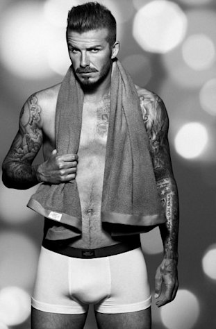 David Beckham seen in his latest underwear collection for H&M -- H&M