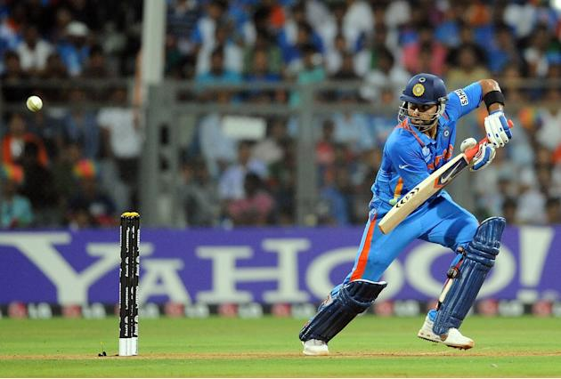 India batsman Virat Kohli plays a shot d