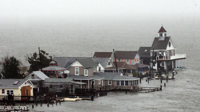 Coastal areas bear brunt of Sandy's damaging wrath
