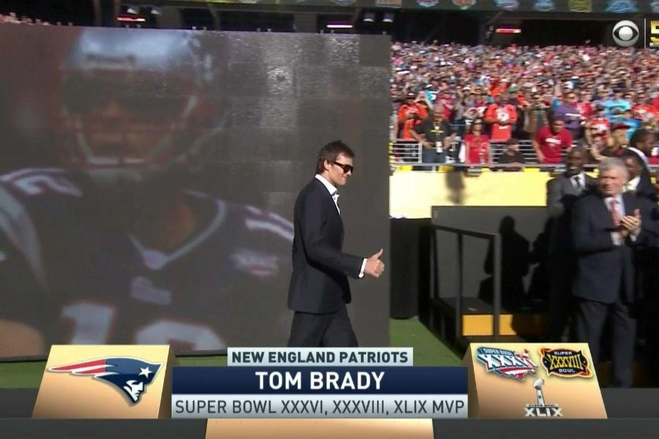 Tom Brady smiles his way through getting booed into another dimension at the Super Bowl