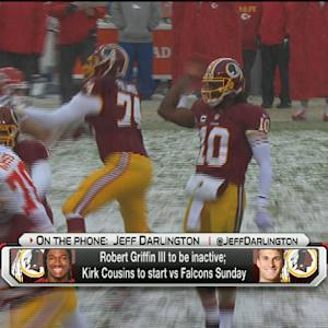 Washington Redskins QB RGIII will be inactive; Kirk Cousins to start Sunday