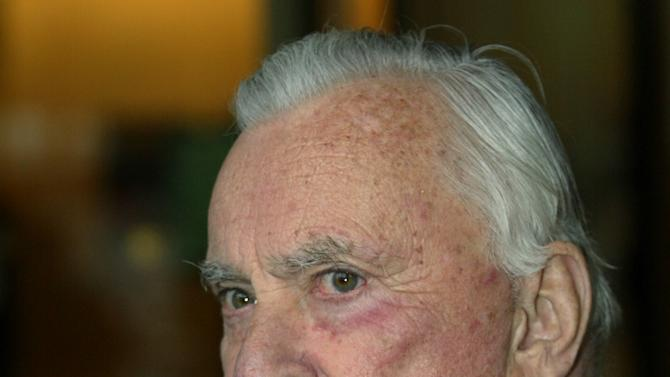 FILE - In this May 5, 2003 file photo, author Gore Vidal arrives for the Film Society of Lincoln Center's gala event in New York. Vidal died Tuesday, July 31, 2012, at his home in Los Angeles. He was 86. (AP Photo/Stuart Ramson, File)