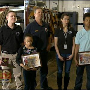 Children Rescued From Burning Home Meet Crew That Saved Them