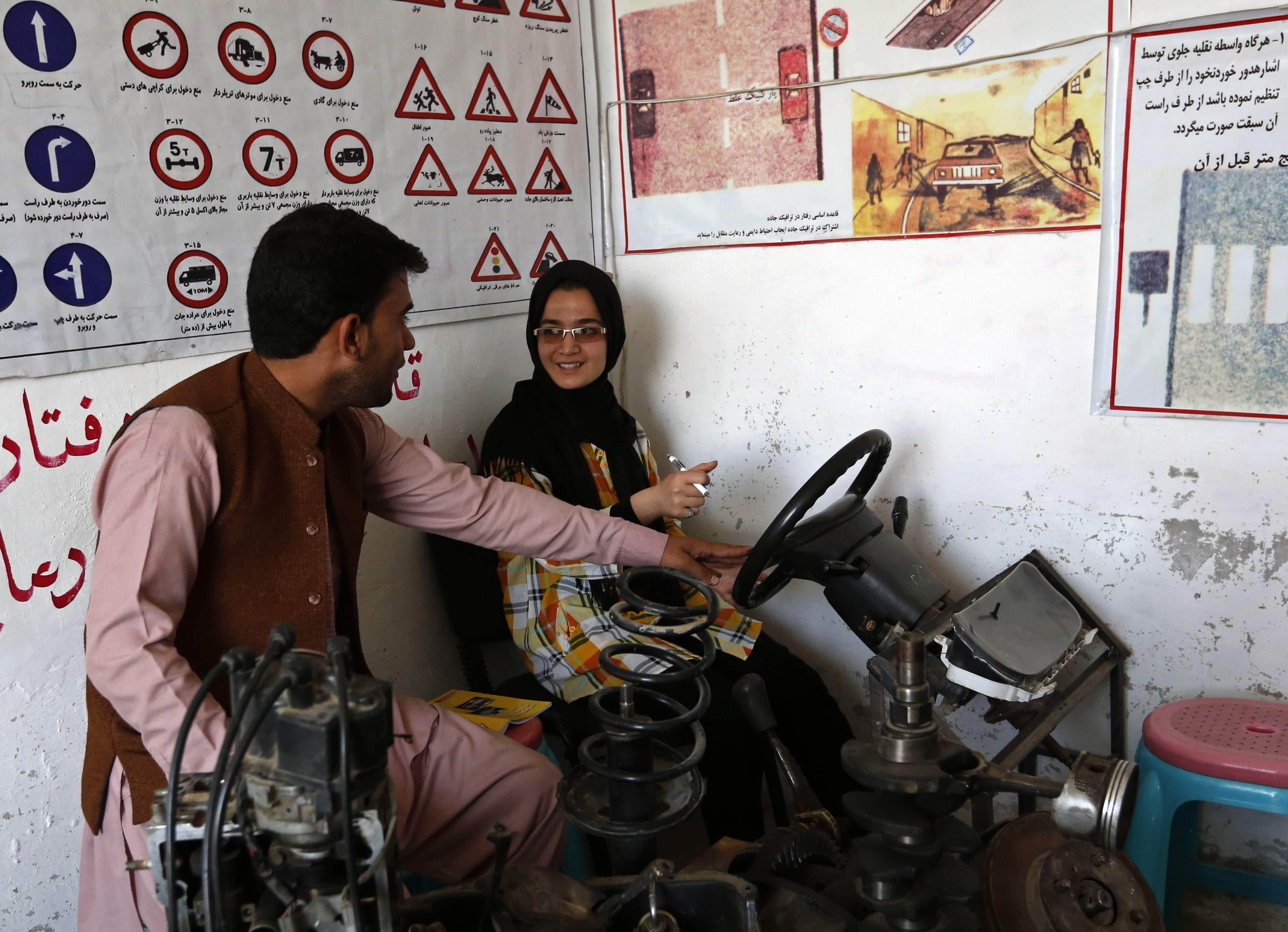 Women learn to drive in Kabul to escape unwanted gazes and physical harassment on public transportation