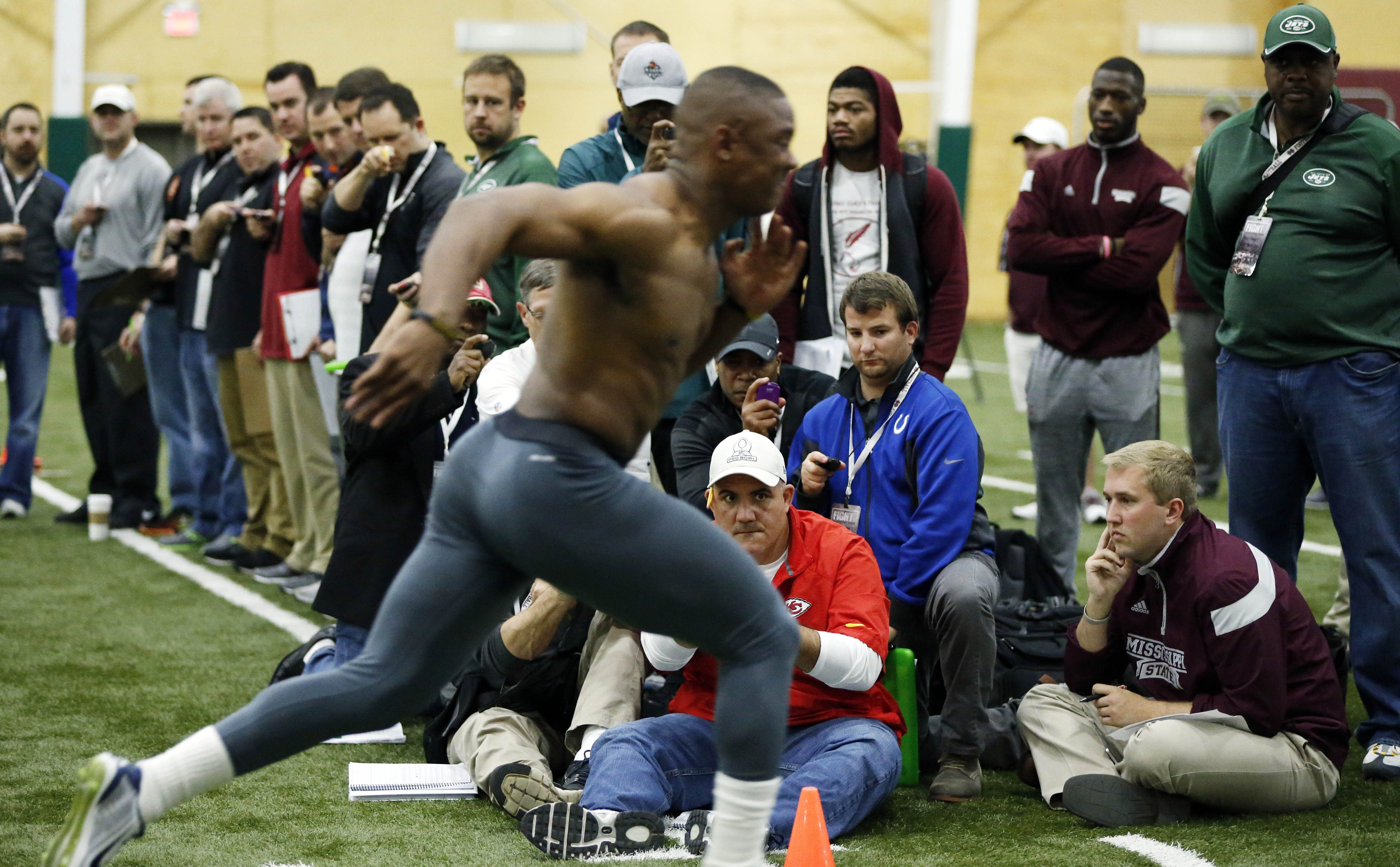 McKinney, Smith workout during Mississippi State pro day