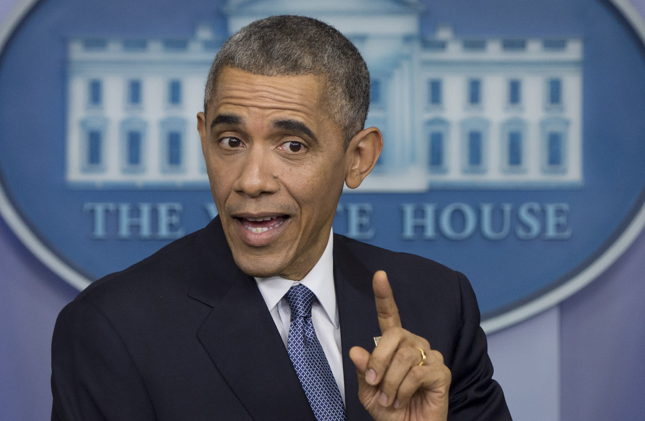 Going it alone, Obama rocked the boat in 2014