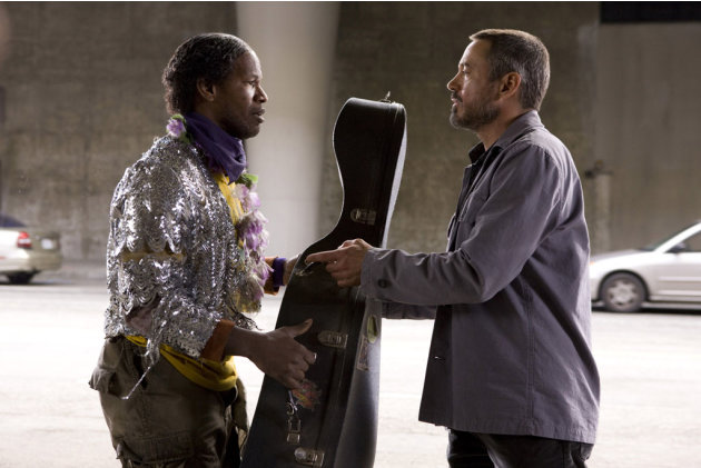 Robert Downey Jr. Jamie Foxx The Soloist Production Stills DreamWorks 2009