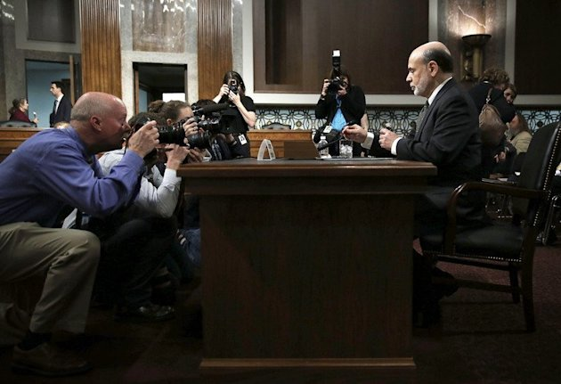 Federal Reserve Board Chairman Ben Bernanke waits for the beginning of a hearing on May 22, 2013 on Capitol Hill