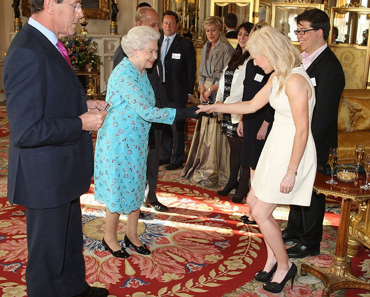 Meeting the Queen during the Young People and The Performing Arts last May