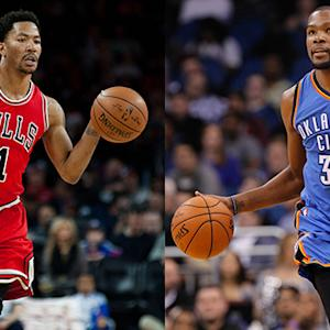 Injured stars: Rose and Durant