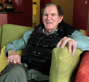 "In this April 16, 2013 photo, Hall of Famer Forrest Gregg is pictured during an interview Greenwood Village, Colo.  Gregg is raising awareness for Parkinson's disease 18 months after his diagnosis. While Gregg and his neurologist believe his debilitating neurological disorder stems from the many concussions he sustained during his playing career, Gregg says he's rebuffed overtures to join thousands of former players suing the NFL. He said he has his pensions from his playing and coaching days and ""I don't need anything from anybody but what I earned."" Yet, he doesn't begrudge those who are part of the lawsuits. (AP Photo/Arnie Stapleton)"