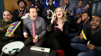 Adele Sang 'Hello' Into a Toy Phone With Jimmy Fallon