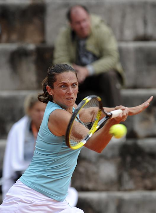 Roberta Vinci Of Italy Returns AFP/Getty Images