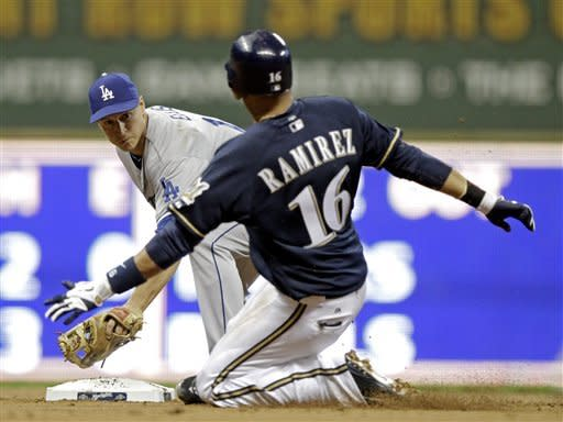 Morgan slides home, Brewers beat Dodgers 3-2 in 10