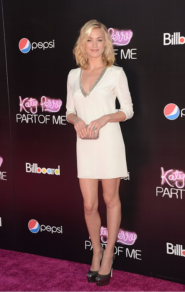 "Yvonne Strahovski at the LA premiere of  "" Katy Perry: Part of Me"""